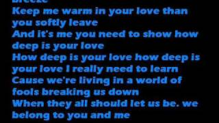 HOW DEEP IS YOUR LOVE with lyrics by JINUSEAN