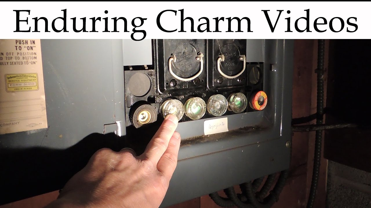 Main Electrical Panel Wiring Diagram Double Bubble Understanding An Old School Fuse Box Youtube