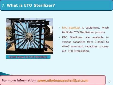 ETO Sterilizer and Sterilization process - YouTube