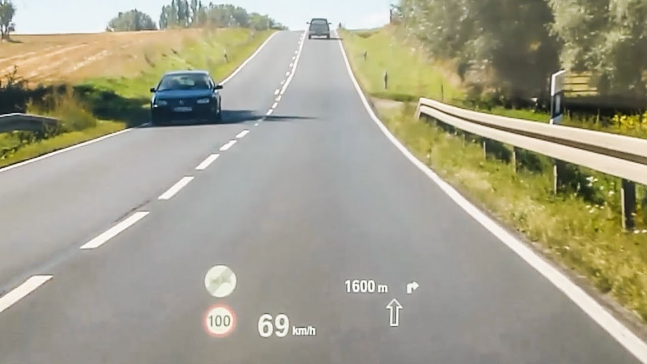 2016 Bmw 328i >> BMW 3 Series - driving with Head Up Display HUD - YouTube