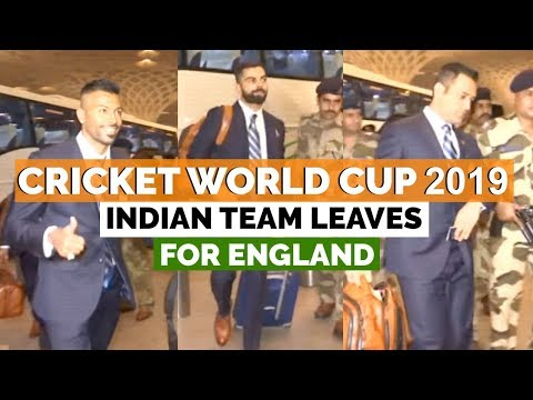 Cricket World Cup 2019: Indian Team leaves for England