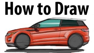 How to draw a Range Rover Evoque - Sketch it quick!