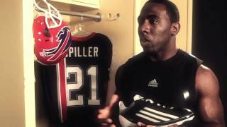 CJ Spiller talking about the adizero 5 STAR, the lightest cleat in football