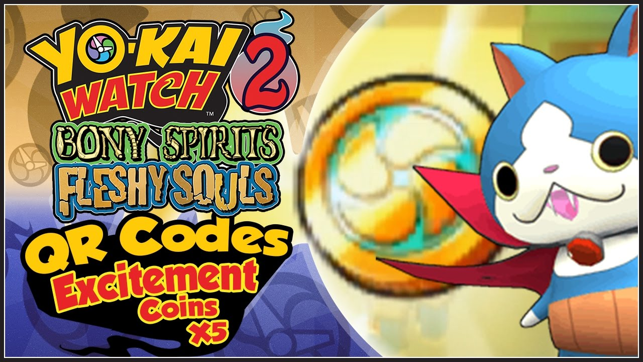Yo Kai Watch 2 Excitement Coin Qr Codes Get Dracunyan Yw2 Tips