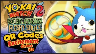 In Yo-Kai Watch 2, Abdallah provides 5 QR Codes for Excitement Coin...