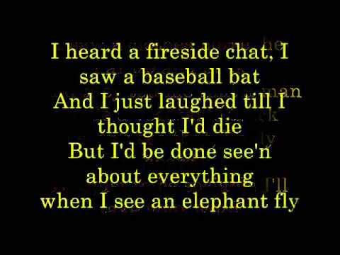 When I See an Elephant Fly   lyrics