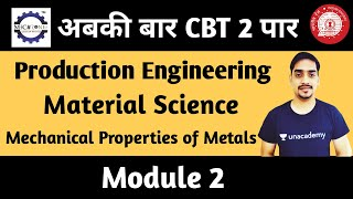 Material Science Module 2 for RRB JE 2019 by Mech Zone