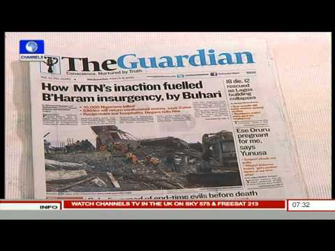 Newspaper Review With Lanre Adewole, Lagos Bureau Chief Nigerian Tribune Pt.2