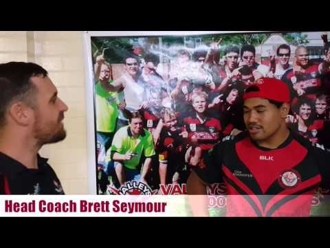 (Head Coach) Brett Seymour interviews Baby Viane