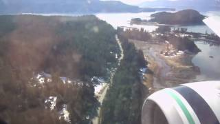 Alaska Airlines 737-900 Landing in Juneau