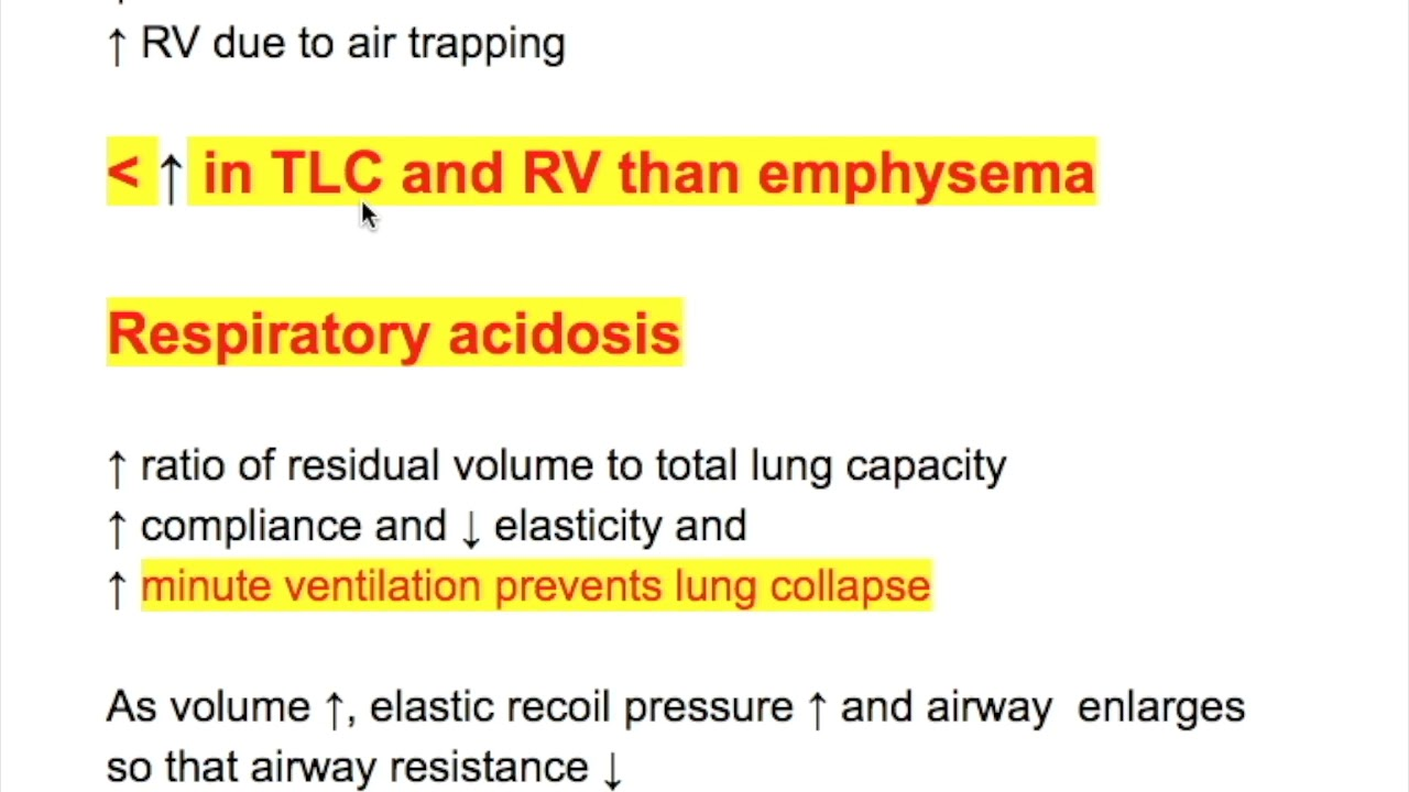 Lung function & ABG in COPD