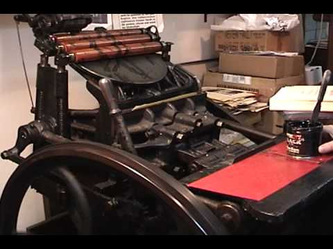 Ian Robertson - Printing Press Demonstration