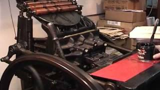 Ian Robertson - Printing Press Demonstration