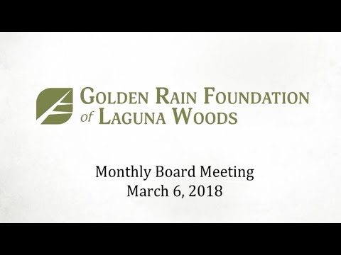 GRF Meeting March 6, 2018