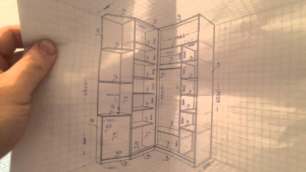 Дизайн углового шкафа в коридор 115