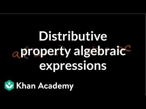Distributive property algebraic expressions | Arithmetic properties | Pre-Algebra | Khan Academy