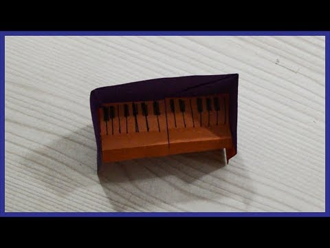 How To Make A Paper Piano - Origami Piano - Paper Activity