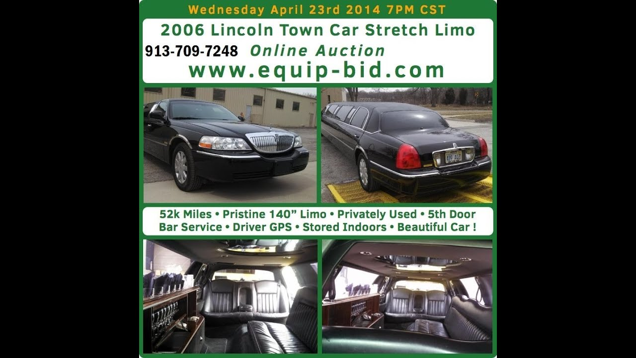 2006 Lincoln Town Car Stretch Limo Auction Equip Bid Com Youtube