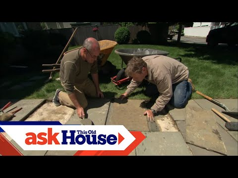 How To Repair A Broken Stone Walkway