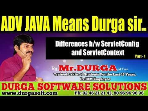 ADV JAVA || Differences between ServletConfig and ServletContext Part  - 1