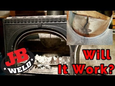 Fixing a Crack in your Jotul Wood Stove with J-B Weld 37901 Extreme Heat