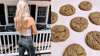 weekend vlog: how I got a perky butt, baking cookies & bday surprise!