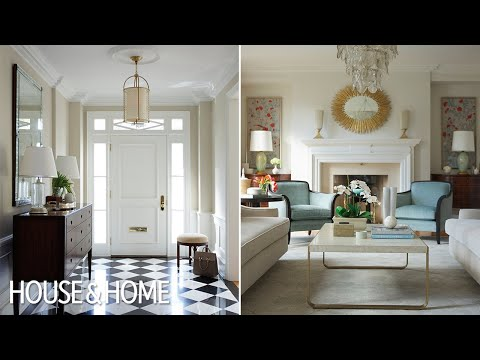 Interior Design – A Traditional Living Room With 1930s Glamor - YouTube