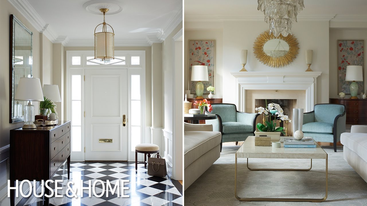 Interior Design – A Traditional Living Room With 1930s Glamor
