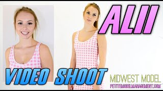 Teen Model Alii - Pink Dress - Midwest Model Agency - In Vogue Photoshoot