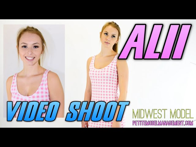 Teen Model Alii - Pink Dress - Midwest Model Agency - In Vogue Photoshoot #1