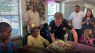grand-prairie-police-officers-help-celebrate-resident-mattie-hamilton-s-106th-birthday