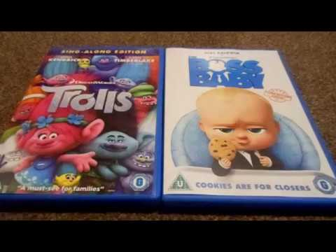 Trolls And The Boss Baby Uk Dvd Unboxing Youtube