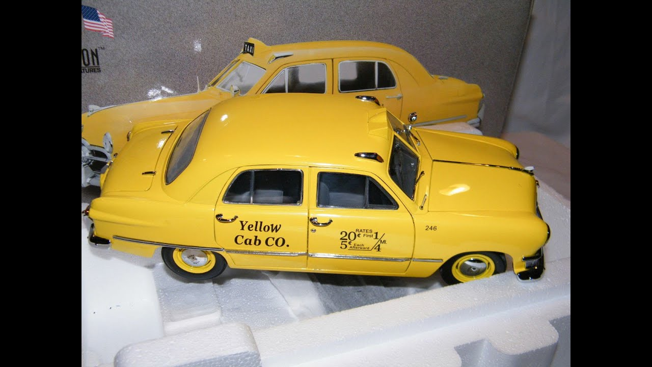 new concept f80b5 9adc5 NEW MINT USA MODELS PRECISION MINIATURES YELLOW TAXI CAB 1950 FORD DIECAST  1/18 MODEL