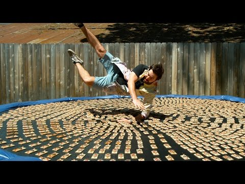 download Diving into 1000 Mousetraps in 4K Slow Motion - The Slow Mo Guys