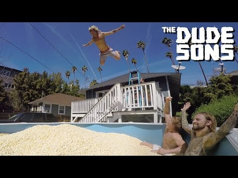 Popcorn Pool Dive Challenge With Logan Paul - The Dudesons