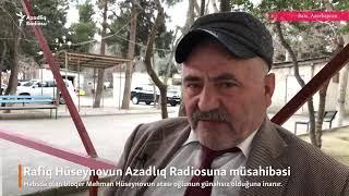 Mehman Hüseynovun atası Mehman haqda danışır