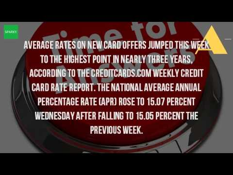 What Is The Average Interest Rate On A Credit Card?