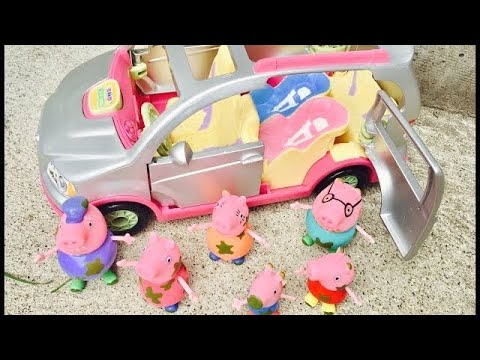 Thumbnail: MUDDY PEPPA PIG Toys Musical Fisher Price SUV Ride to the Playground!