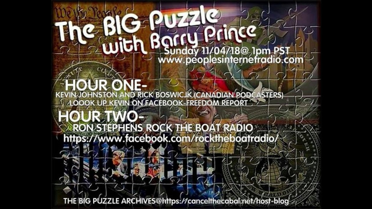 The Big Puzzle With Barry Prince, Kevin J  Johnston & Rick Boswick
