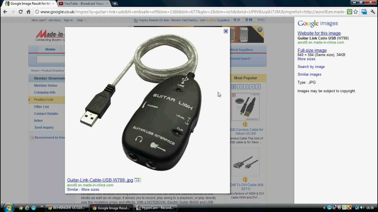 Usb guitar link cable driver
