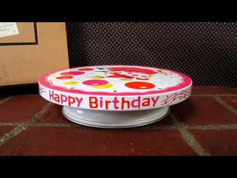 plays happy birthday cake plate vintage 1960s girls clown plays