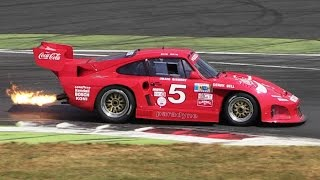 3 x Kremer Porsche 935 K3 Turbo Sound - Warm Up, Accelerations, Flames & More