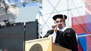 Penn's 2016 Commencement Ceremony- Commencement Speaker Lin-Manuel Miranda thumbnail