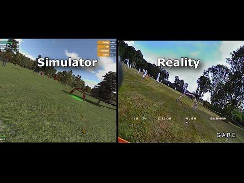 Velocidrone FPV Simulator vs. Reality - NCAR Racetrack