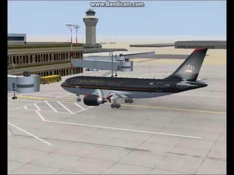 Fsx Airbus a310-300 Royal Jordanian fly Amman to Aqaba
