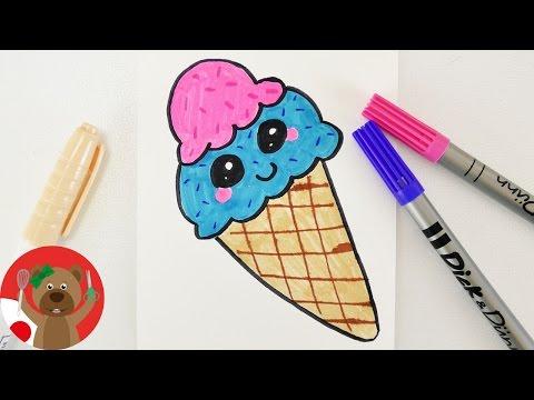 かわいいアイスクリームの絵の描き方 Youtube