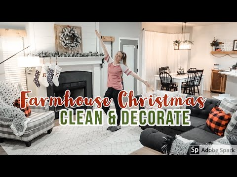 CHRISTMAS CLEAN AND DECORATE WITH ME | FARMHOUSE CHRISTMAS DECOR HOUSE TOUR 2019 (PART 2)