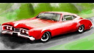 Граффити вконтакте автомобиль Oldsmobile delmont 88 (drawing car)