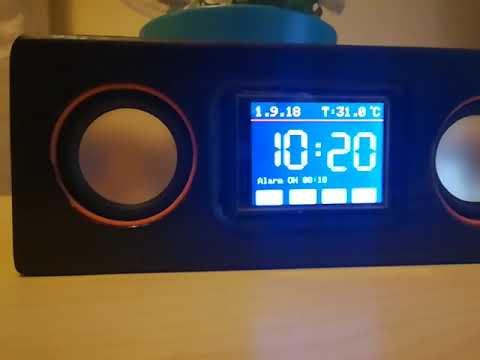 Arduino uno alarm clock (ds3231) fm radio (si4703) touch screen