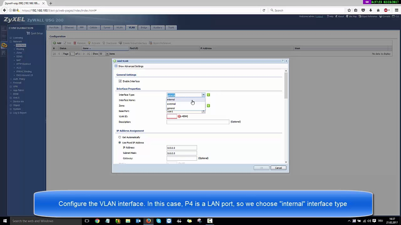 How to configure a VLAN on a USG device – Zyxel Support Campus EMEA